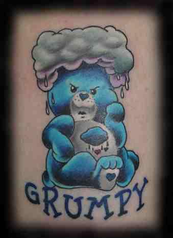 Care Bear Tattoos Cakehead Loves Evil
