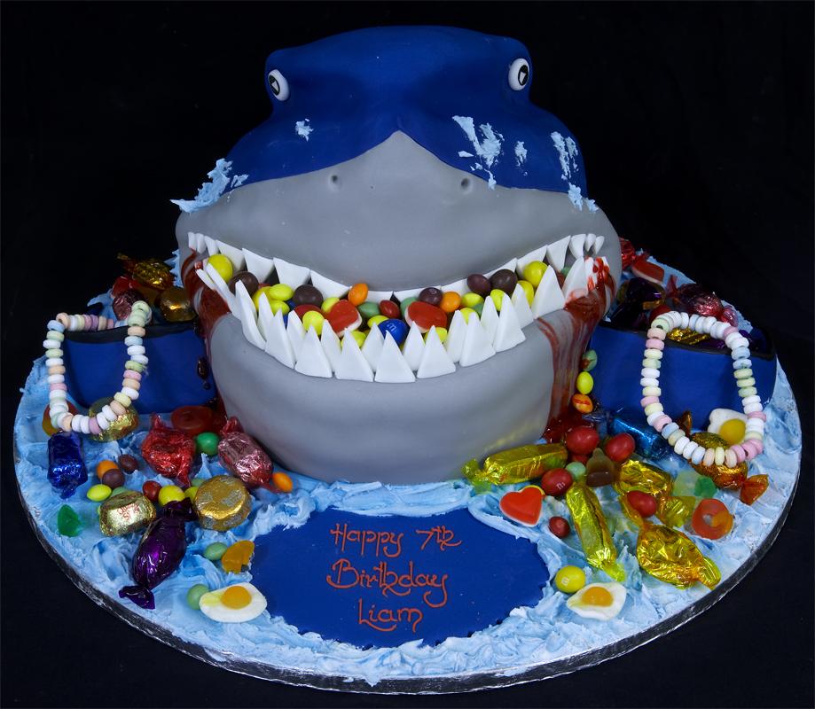Stret Sharks Birthday Cake