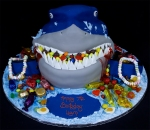 Sharks Head Birthday Cake