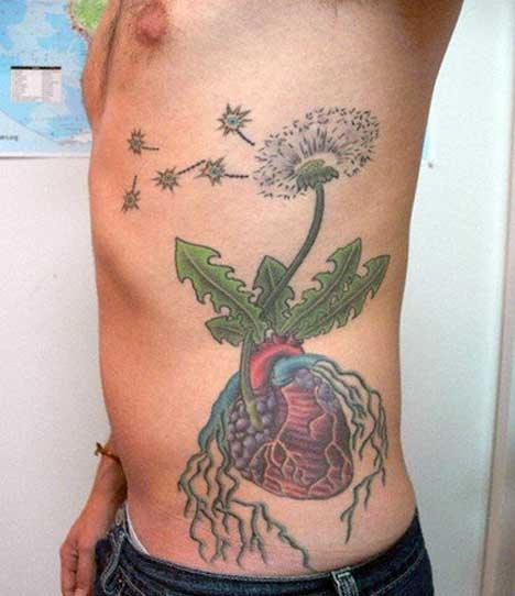 heart-flower-nerve-tattoo