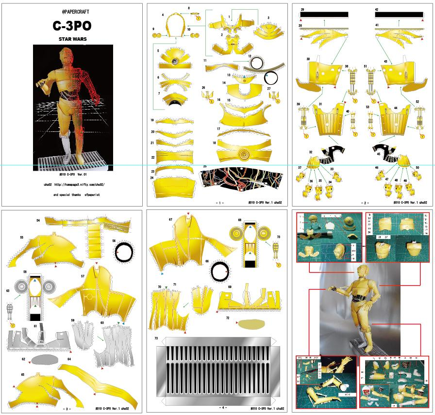 c 3po papercraft cakehead loves evil. Black Bedroom Furniture Sets. Home Design Ideas