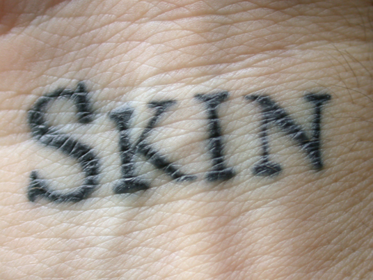 font ineradicable jackson shelley skin stain tatto word