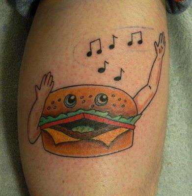 Burger Tattoo  Cakehead Loves Evil