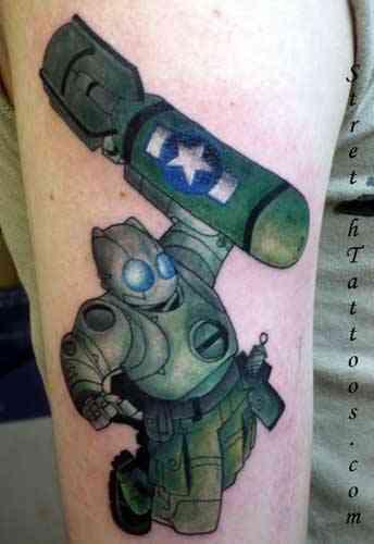 tattoo robot. robot-tattoo-stretch-m