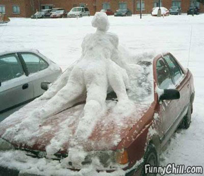 funny dirty pictures. Sophisticated snowman builds