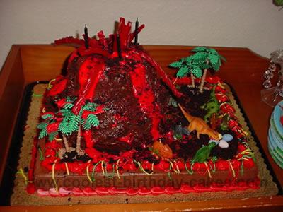 How Make A Volcano Cake