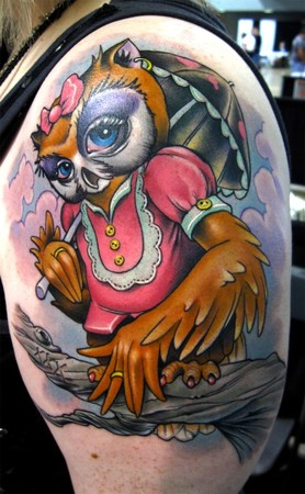 Owl Cake Tattoo Pictures To Pin On Pinterest