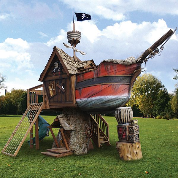 Diy pirate ship swing set plans plans free - Pirate ship wooden playground ...