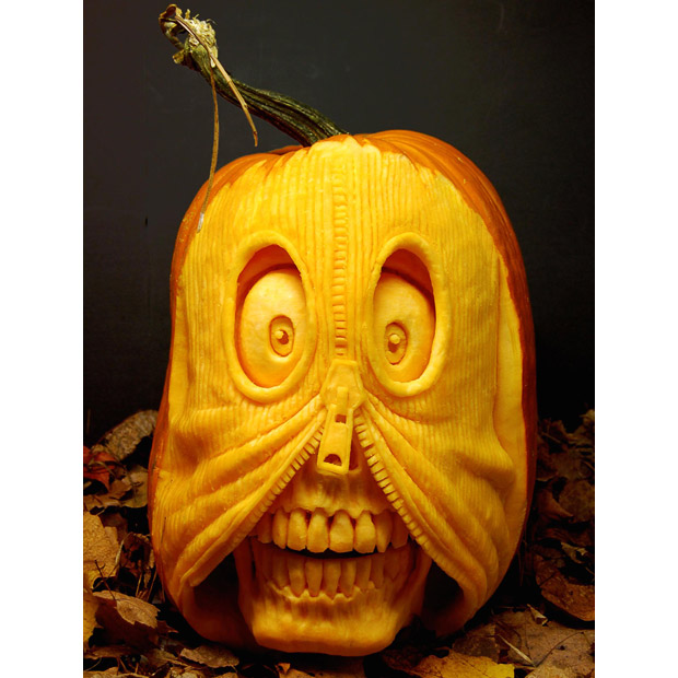 Villafane pumpkin carving cakehead loves evil