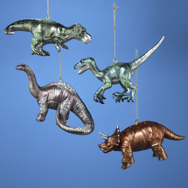 source httpwwwchristmasandcitycomindexphpglittered dinosaur christmas ornaments - Dinosaur Christmas Decorations