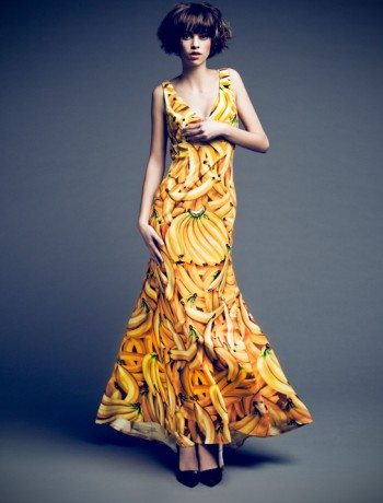 luxury-long-banana-dress